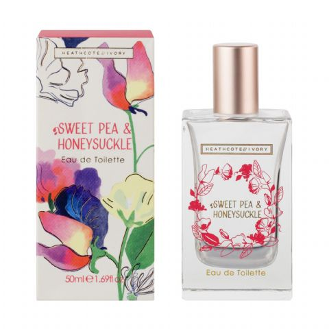 Sweet Pea & Honeysuckle Eau De Toilette Perfume EDT 50ml Heathcote & Ivory